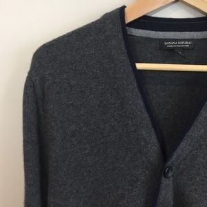 Banana Republic Wool Cardigan Grey Medium